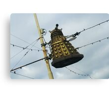 Dalek in a lamp post Canvas Print