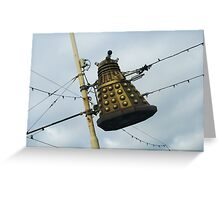 Dalek in a lamp post Greeting Card