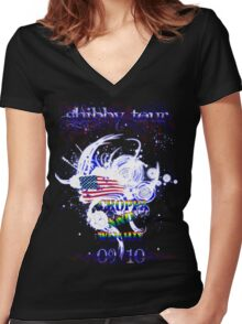 shibby tour 2 Women's Fitted V-Neck T-Shirt