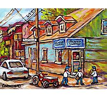 MONTREAL PAINTINGS FOR SALE DEPANNEURS OF MONTREAL BASEBALL SCENE Photographic Print