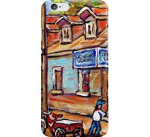 MONTREAL PAINTINGS FOR SALE DEPANNEURS OF MONTREAL BASEBALL SCENE iPhone Case/Skin