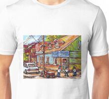 MONTREAL PAINTINGS FOR SALE DEPANNEURS OF MONTREAL BASEBALL SCENE Unisex T-Shirt