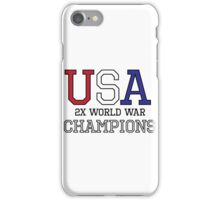 USA 2X World War Champions iPhone Case/Skin