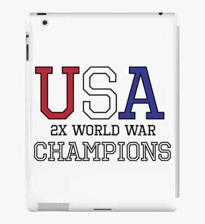 USA 2X World War Champions iPad Case/Skin