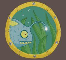 fish in porthole... One Piece - Short Sleeve