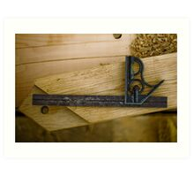 Timber Framing T-Square Art Print