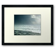 High Surf Warning: Ominous Clouds Framed Print