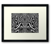 Black And White Shimmering Animal Print Swirly Pattern Framed Print