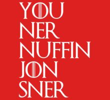 jon snow ners nuffin Kids Clothes