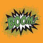 COMIC BOOM, Speech Bubble, Comic Book Explosion, Cartoon by boom-art