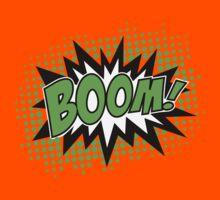 COMIC BOOM, Speech Bubble, Comic Book Explosion, Cartoon Kids Tee