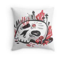 Skull Garden Throw Pillow