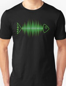 Music Fish Pulse Rate Frequency Dance House Techno Wave Unisex T-Shirt