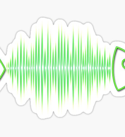 Music Fish Pulse Rate Frequency Dance House Techno Wave Sticker
