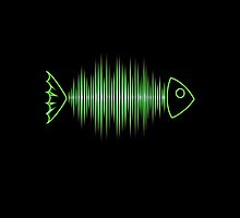 Music Fish Pulse Rate Frequency Dance House Techno Wave by boom-art