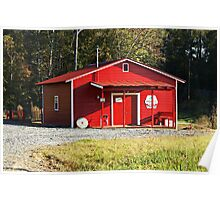 Little Red Grist Mill  Poster