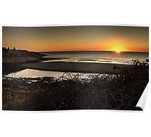 Port Noarlunga  at sunset Poster