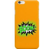 COMIC BOOM, Speech Bubble, Comic Book Explosion, Cartoon iPhone Case/Skin