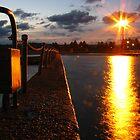 Sundown at Narrabeen Rock Baths by Napier Thompson