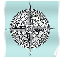 Compass with Sun  Poster