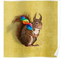 A funny squirrel Poster