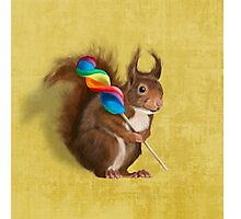 A funny squirrel Photographic Print