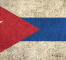 Old and Worn Distressed Vintage Flag of Cuba Sticker