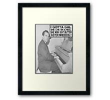 Richard Nixon Sings Butter Sister Framed Print