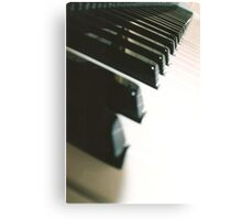 Piano 3, pattern Canvas Print