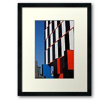 Building blocks at Docklands Framed Print
