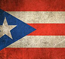 Old and Worn Distressed Vintage Flag of Puerto Rico by Jeff Bartels