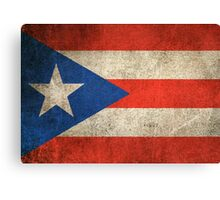 Old and Worn Distressed Vintage Flag of Puerto Rico Canvas Print