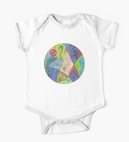 Abstract intersection painting - 2014 One Piece - Short Sleeve