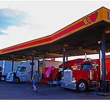 Truck Stop: Amarillo, TX. by Chet  King