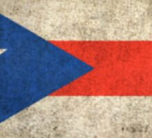 Old and Worn Distressed Vintage Flag of Puerto Rico Sticker
