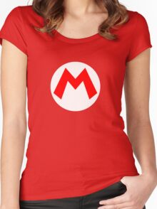 Super Mario Mario Icon Women's Fitted Scoop T-Shirt