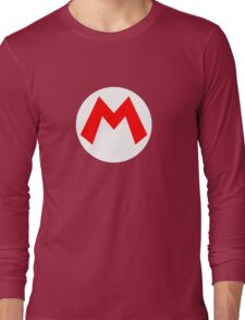 Super Mario Mario Icon Long Sleeve T-Shirt