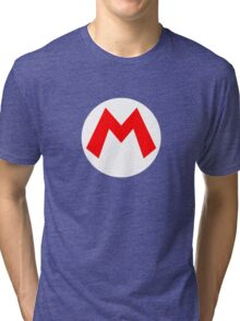 Super Mario Mario Icon Tri-blend T-Shirt