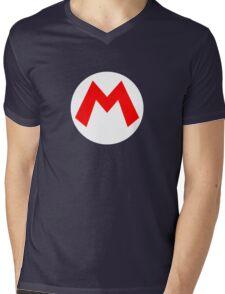 Super Mario Mario Icon Mens V-Neck T-Shirt