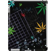 Colorful Marijuana Leaves and Grid iPad Case/Skin