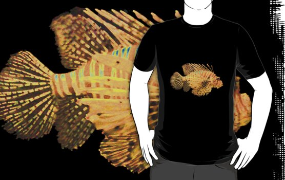 Lionfish the t-shirt by Jayson Gaskell