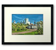 Lighthouse and Hostel Framed Print