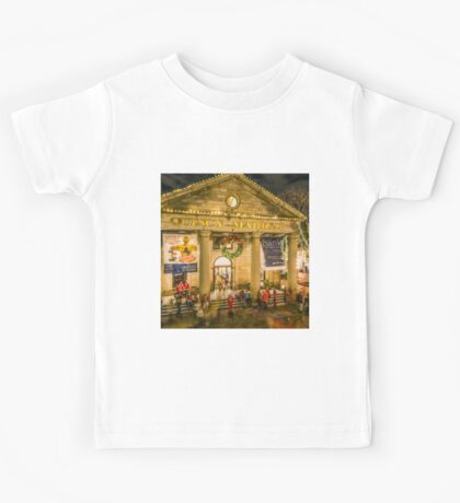 Quincy Market at Christmas Kids Tee
