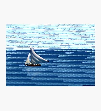 A delightful sail on the waves of the Internet Photographic Print