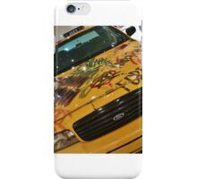 New York Taxi Cab - Graffiti  iPhone Case/Skin