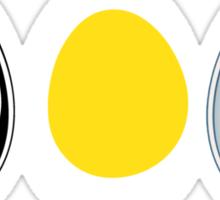 LINUX TUX  PENGUIN  3 EGGS Sticker