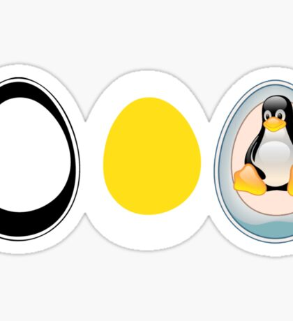 LINUX TUX  PENGUIN  3 EGGS Sticker