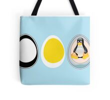 LINUX TUX  PENGUIN  3 EGGS Tote Bag