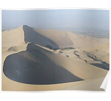 Curving sand dunes Poster