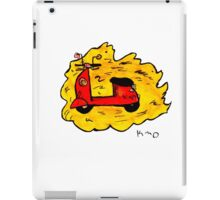flying scooter iPad Case/Skin